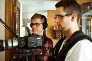 The lovely Jordan and Micah capturing stunning images and audio. (Copyright Christopher Behnen)